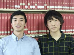 石橋裕海さん(右)と、オリエン担当・霜鳥広樹アカデミック・アドバイザー