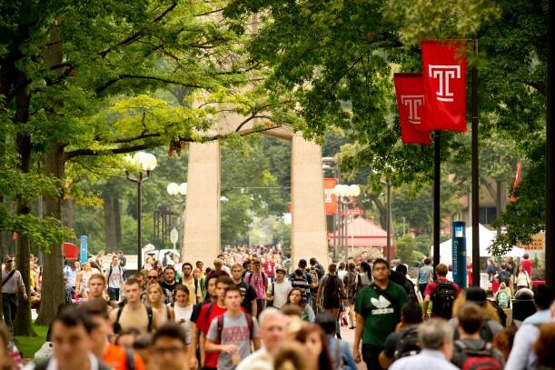 米国ペンシルベニア州フィラデルフィアにあるテンプル大学本校