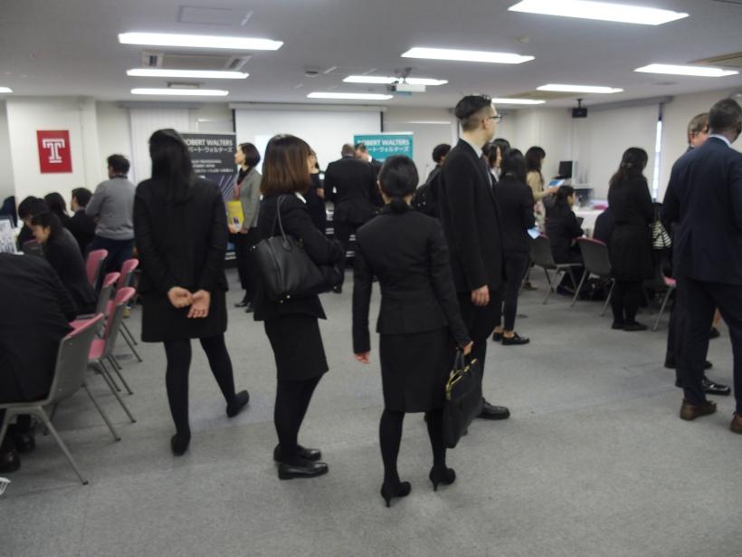 オンキャンパス・キャリアフェア 春学期 2016 @TUJ三田校舎 (3/16)